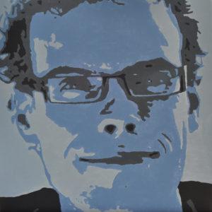 Pop-Art schilderij Bram (acryl op doek 40x40cm)  -  2013