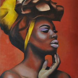 Donkere dame (olieverf op paneel 30x40 cm)  - 2017