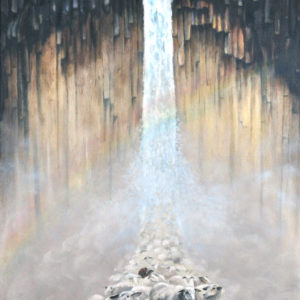 Schapenwaterval (olieverf op doek 50x120 cm)  - 2019